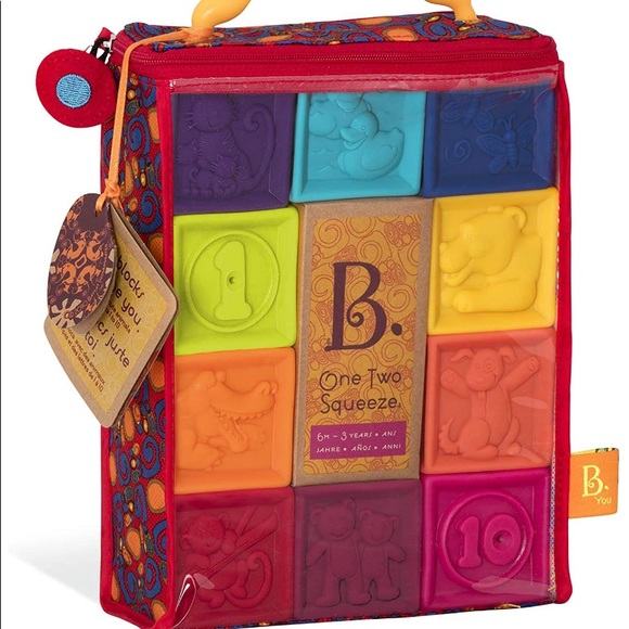 B. Toys Baby Blocks Numbers Colors Animals